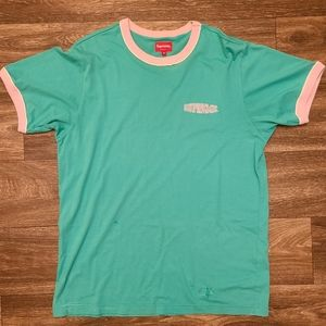 Supreme Piping Ringer Tee Teal SS18